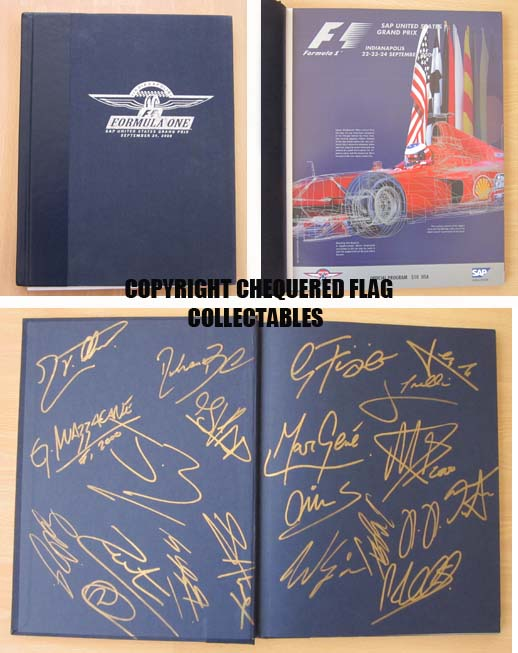 USA 2000 GP commemorative race program signed by 20 drivers